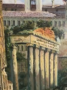Ancient, Ruins, Original, Oil, Painting