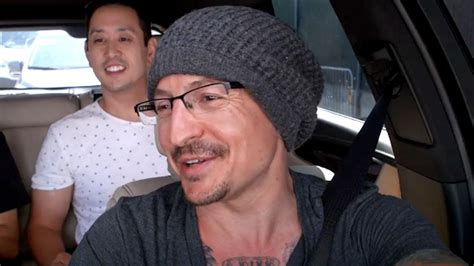 chester bennington appears  good spirits  carpool