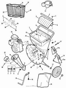 Snapper Sac55140bv 5 Hp Chipper  Shredder Parts Diagram For