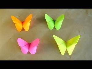 Origami Schmetterling Anleitung : basteln origami schmetterling falten basteln mit papier bastelideen ~ Frokenaadalensverden.com Haus und Dekorationen