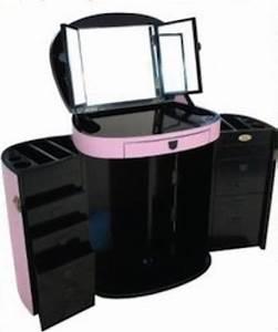 Coiffeuse Meuble Noir : coiffeuse pliante rose avec miroir marie galante ~ Farleysfitness.com Idées de Décoration