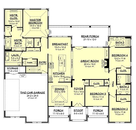 House Plan 51995 Traditional Style with 2751 Sq Ft 4