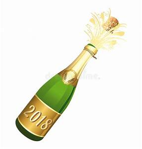 Image Champagne Anniversaire : illustration de vecteur de bouteille de champagne ouverte par 2018 f licitations ou bonne ann e ~ Medecine-chirurgie-esthetiques.com Avis de Voitures