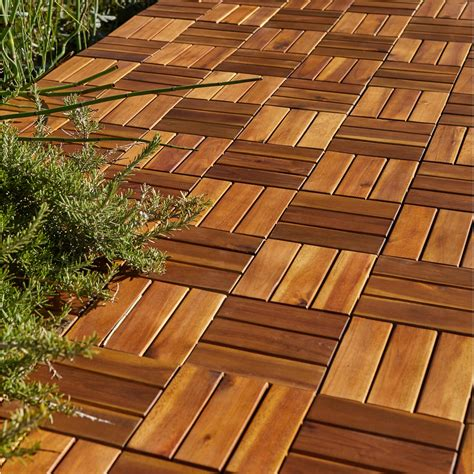 dalle clipsable bois naturel l 30 x l 30 cm x ep 23 mm leroy merlin