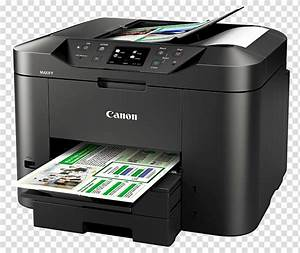 black canon multifunction printer printing documents