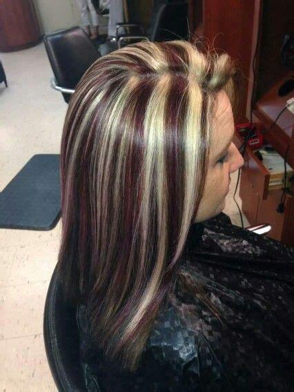 red brown  blonde streaks hair  marissa