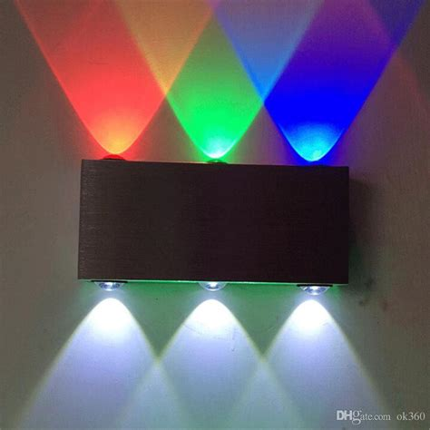 2018 9w wall ls aluminum 6 led wall lighting for dj club ktv bar corridor rgb background