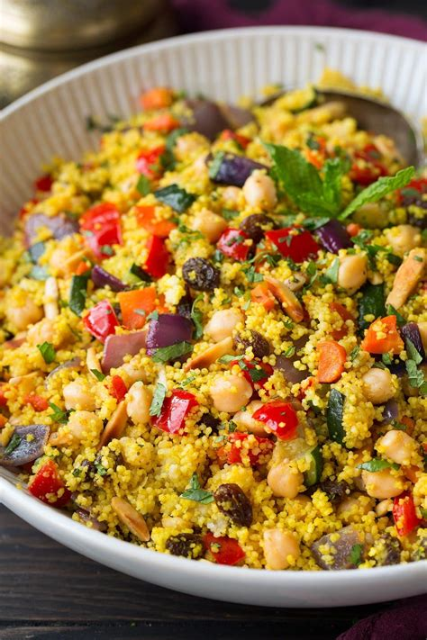 cuisine couscous moroccan couscous with roasted vegetables peas and