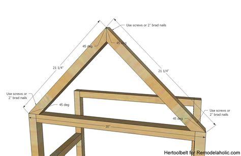 A Frame Home Plan Ideas Photo Gallery by Remodelaholic Diy House Frame Bookshelf Plans