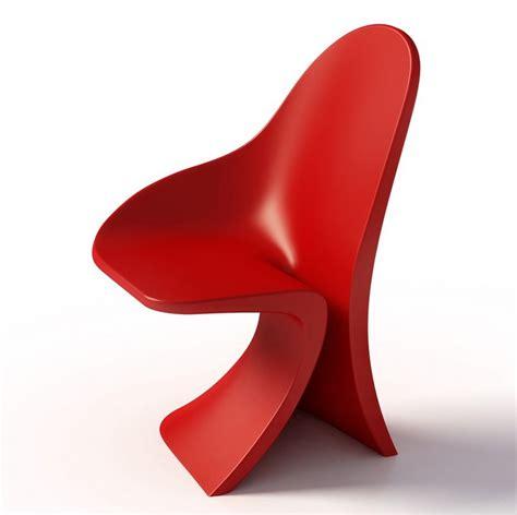 unusual shaped chair asymmetrical strip  casamania