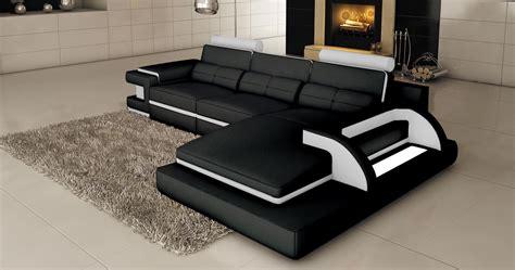 canapé d angle design deco in 1 canape d angle cuir noir et blanc design