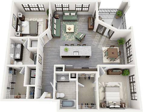 appartement avec 2 chambres 50 plans 3d d 39 appartement avec 2 chambres design