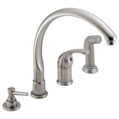 single handle kitchen faucet  spray soap dispenser  sswf delta faucet