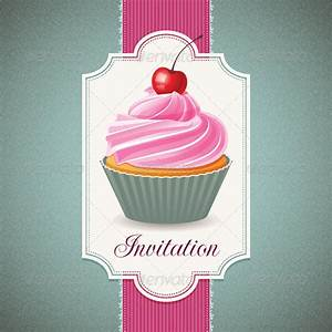 Vintage Card with Cupcake by gksd777 | GraphicRiver