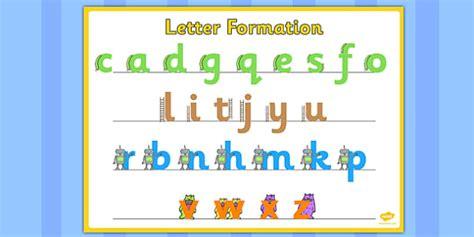 large letter formation poster letter formation poster