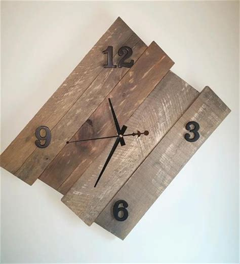 pdf diy wooden wall clock 10 diy wooden pallet clock ideas pallet furniture plans