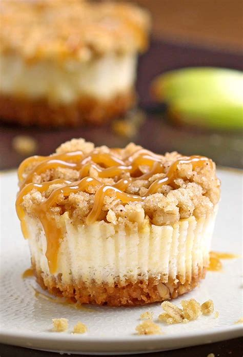 apple dessert caramel apple crisp mini cheesecakes cakescottage