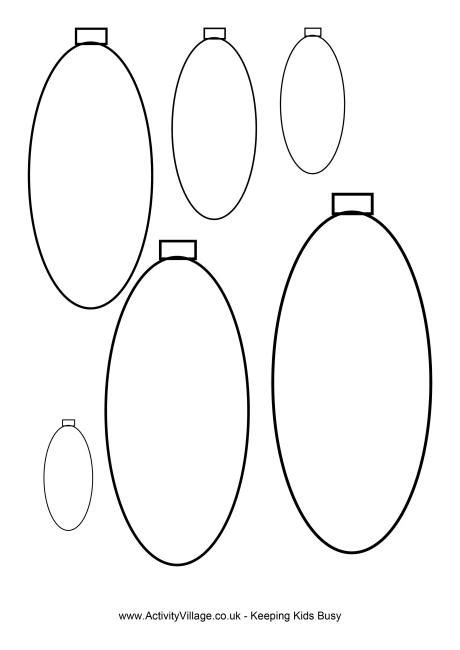oval template oval baubles template