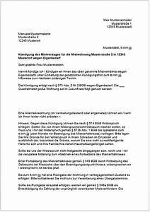 Mieter Kündigen Vorlage : kundigung wegen eigenbedarf vorlage ~ Orissabook.com Haus und Dekorationen