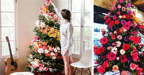 people  decorating  christmas trees  flowers