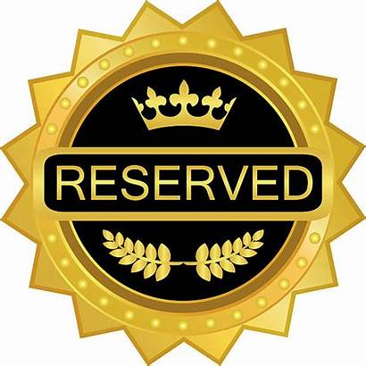 Clip Class Vector Badge Seat Gold Reserved