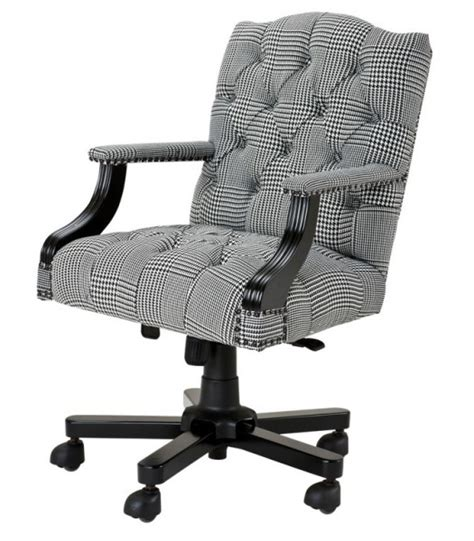 luxury executive office chair black white checkered