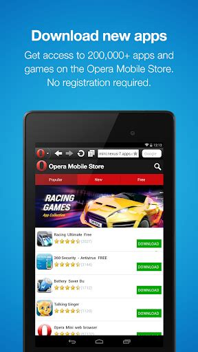 opera mini fast web browser android apps apk 1979395 website browser