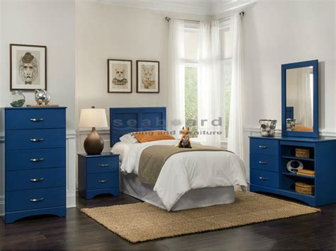 Kith 179 Royal Blue 4 pc Kids Twin Bedroom Set