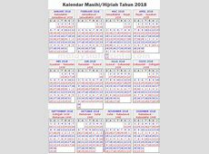 Kalendar islam 2018 1 2018 Calendar printable for Free