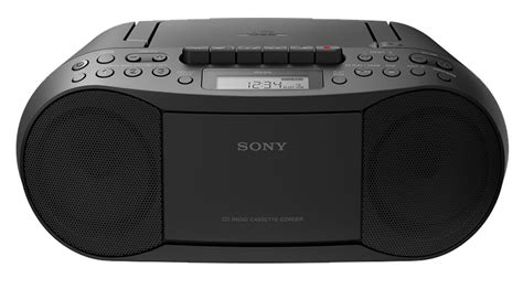 Radio Cassette Recorder by Sony Black Cd Radio Cassette Recorder Boombox Cfds70blk