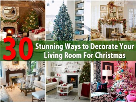 30 stunning ways to decorate your living room for christmas