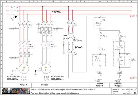 chambre froide en anglais seb03 schéma électrique de base départ moteur triphasé