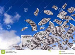 Money Falling From The Sky Royalty Free Stock Image ...