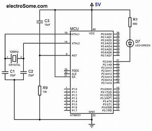 Led Blinking Using 8051 Microcontroller And Keil C