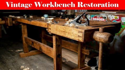 vintage workbench restoration  year  cabinet