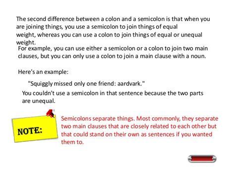 The Semicolon
