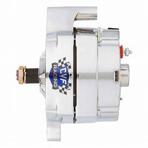 Ford 1 Wire Alternator  140 Amp  Chrome