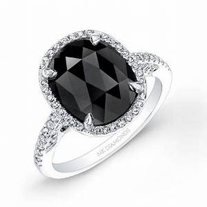 Hand Made 2 3/4ct Oval Black Diamond Engagement Ring by ...