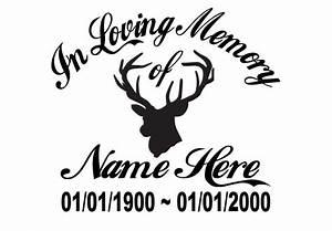 In Loving Memory Of - Hunter Deer Sticker Decal Window