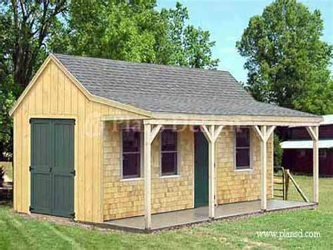 cottage shed  porch plans garden shed  porch