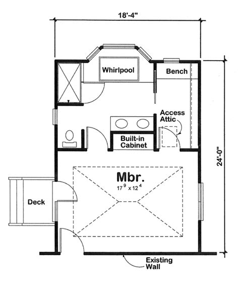 Small Master Bedroom Floor Plans by Plan 90027 Master Bedroom Addition For One And Two Story
