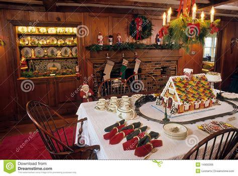 christmas dinner table stock photo image  chandelier