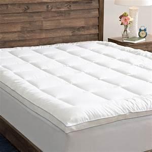 grandeur collection powernap cotton top fiber blend With cotton pillow top mattress pad