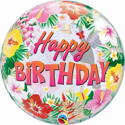 Birthday Happy Tropical Balloons Bubble Qualatex Balloon
