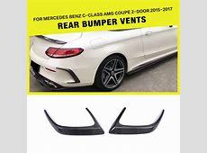 Rear Bumper Vents Spoiler Flics for Mercedes CClass W205