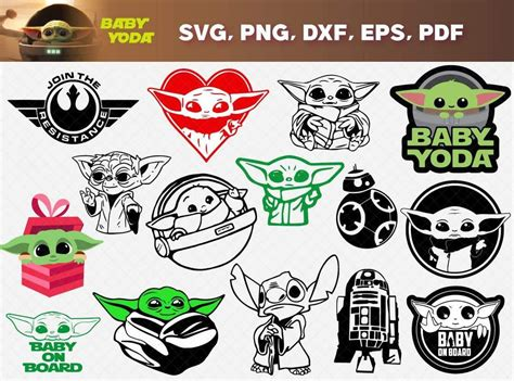 He is an infant member of the same unnamed alien species as the popular star wars character yoda, with whom he shares a strong ability with the. Baby Yoda SVG Bundle. Includes cuttable and printable high ...