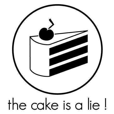 the cake is a lie the cake is a lie by theshad0w on deviantart