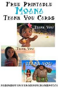 Moana Thank You Cards Printable Free