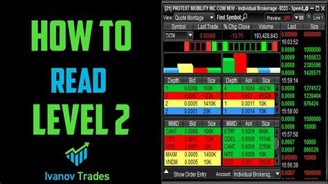 how to read stock how to read level 2 for stock trading make money online