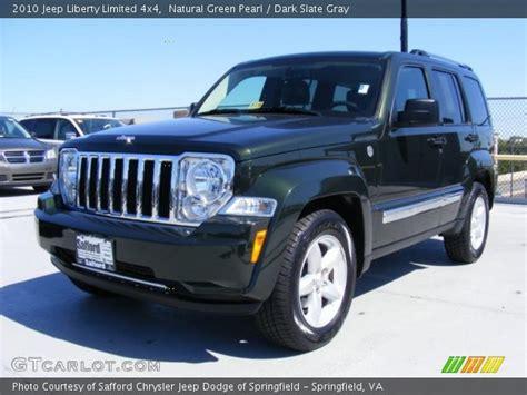 dark green jeep liberty natural green pearl 2010 jeep liberty limited 4x4 dark